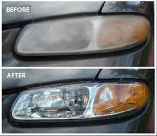 Headlights Before and After Reconditioning
